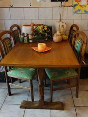 Ess- Küchentischkombination 120x80 Eiche rustikal