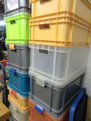 Plastikkästen Holzkästen Metallkoffer Miele-Holzwaschmaschine