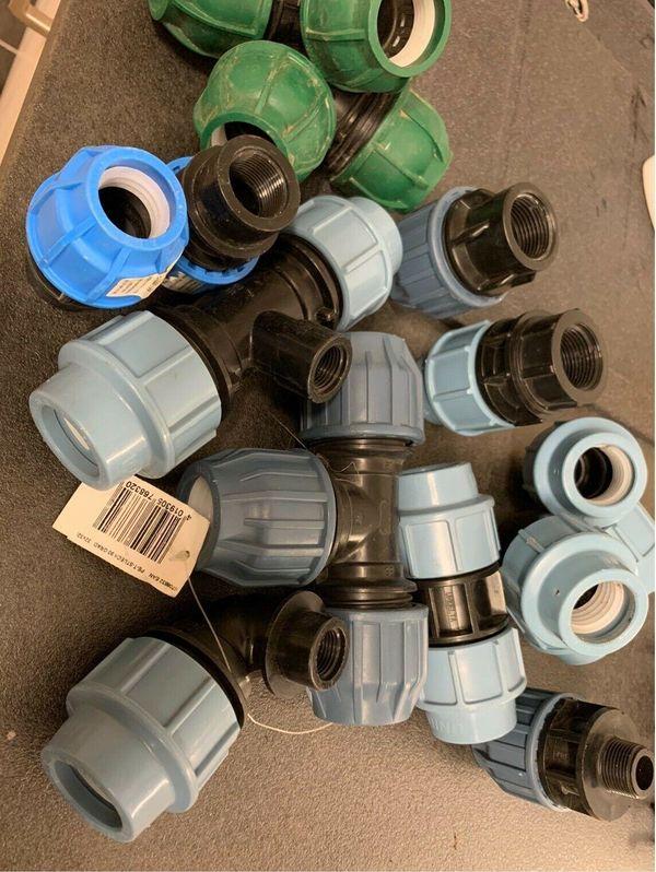 PP - PE Verschraubungen 32mm 25mm