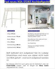unbenutztes IKEA-STORÅ Hochbettgestell neue Matratze