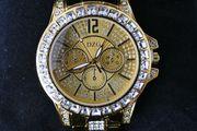 Neue sehr schöne goldfarbene Armbanduhr