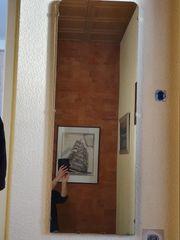 Spiegel Wandspiegel Ganzkörperspiegel Kristall Nußbaumplatte