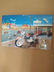 Magnettafel Blechschild Motorradmotiv