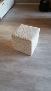 Sitz Sitzwürfel Poof Weiß Depot