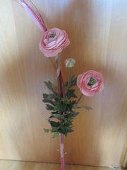 Seidenblume rosa mit Vase
