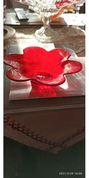 Kerzenteller aus Glas sehr hochwertig