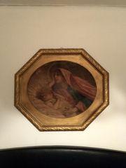 Altes Bild Maria mit Kind