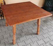 Gartentisch Holz braun quadratisch 1m