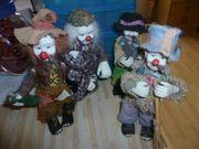 Alte Clownsfiguren 3 1 Stück
