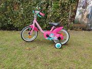 Fahrrad Mädchen mit Stützrädern 14