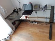 Schreibtisch Glasschreibtisch Computer Tisch Bürotisch