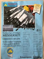 Messerset 24-teilig PEARL OF KITCHEN