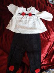 Babykleid Schwarz weiss für Mädels