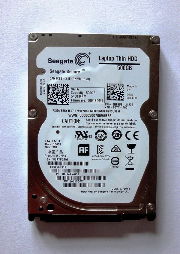 Seagate Laptop Thin HDD 500