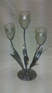 Kerzenständer 3-flammig für Teelichter