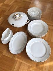 Goldrandgeschirr vintage Tafelservice Geschirr Porzellan