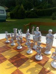 Schachspiel Schachfiguren Zinn