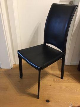 echtleder stühle gebraucht schwarz
