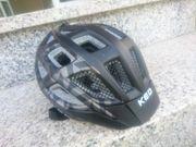KED Kinder-Fahrradhelm schwarz Gr S
