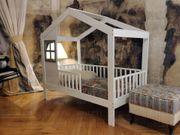 Cynia Haus Bett mit Sicherheitsbarrieren
