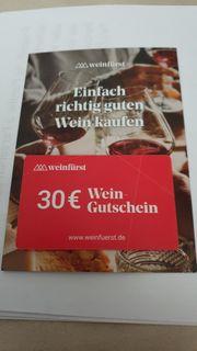 Gutschein von Weinfürst