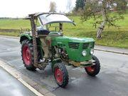 Traktor Deutz 4006 mit Mähwerk