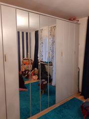 Schlafzimmerschrank grau 3m