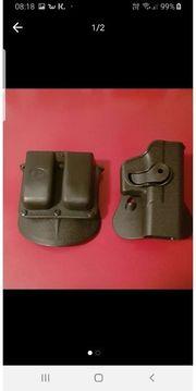 Holster und doppelte Magazintasche