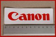 Aufkleber Sticker rechteckig 12cm Canon