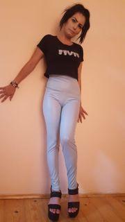Sexy Wetlook PU Lack Leggings