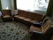 Wohnzimmer Couchgarnitur 60er Jahre braun