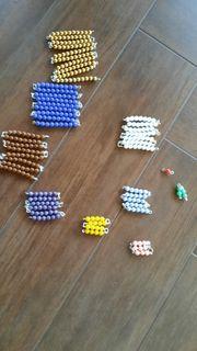 Montessori Pädagogik - kurze Perlenkette