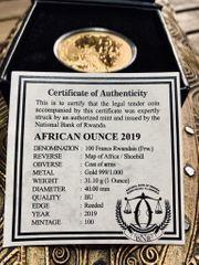 Ruanda African Ounce 2019 - Gold