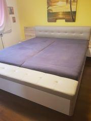Doppelbett Ehebett 180x200 integr Nachttisch