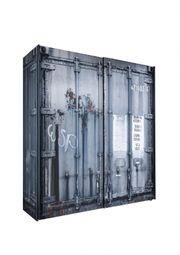 Kleiderschrank Container-Optik 2 Schwebetüren B