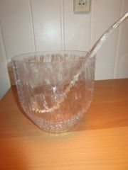 Bowle mit Schöpfkelle gr Glasgefäß