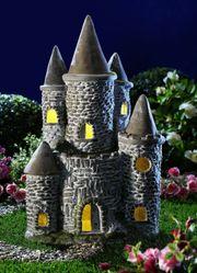 Solarleuchte Burg Solarlampe Solarstecker Gartendeko