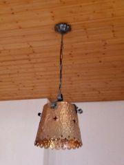 Holzrad mit Lampen u drei