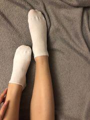 getragene Socken Strümpfe Schuhe