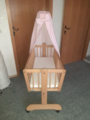 Alvi Stubenwagen Babybett mit Matratze