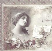 15x Servietten Vintage Foto - Serviettentechnik