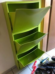 Ikea TRONES Schuhschrank in grün