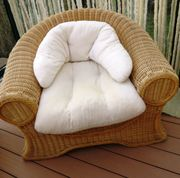 Rattan-Korb-Sessel honigfarbig Einzelstück