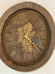 Fassdeckel als Uhr
