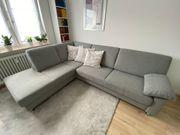 Couch Eckcouch Sofa grau