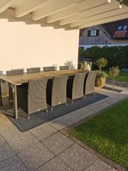 Gartenmöbel Tisch und 8Stühle