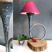 Lampe Tischlampe Schreibtischlampe Jagdhorn Vintage