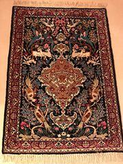 Original Perser Isfahan Bildteppich handgeknüpft