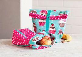 Lunch Bags für Kinder aus beschichteter Baumwolle