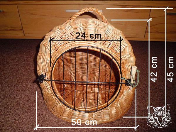 Katzenkorb Hundekörbchen Flechtkorb mit Tür